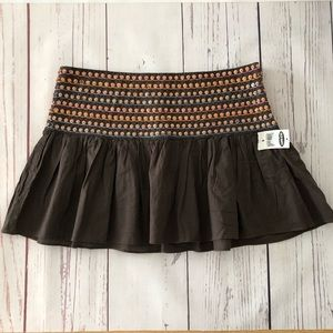 OLD NAVY brown beaded and sequin waist MINI SKIRT